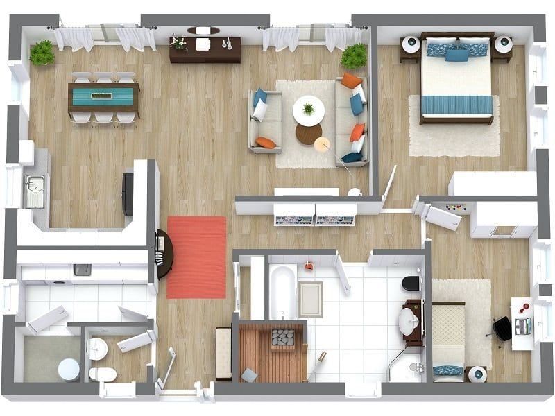 3D Floor Map for Property