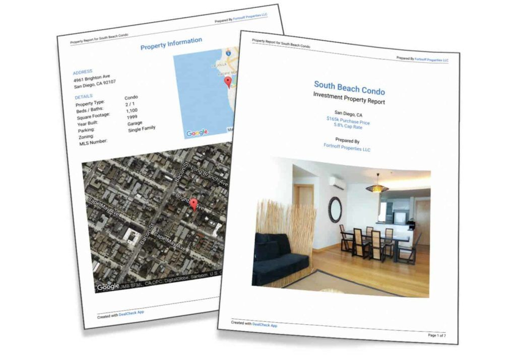 property investment report